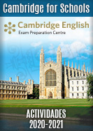 Cambridge for Schools - actividades 2019-2020